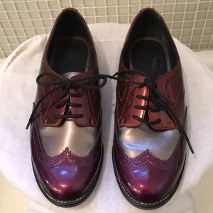 DR. MARTEN's Polina patent leather wingtip